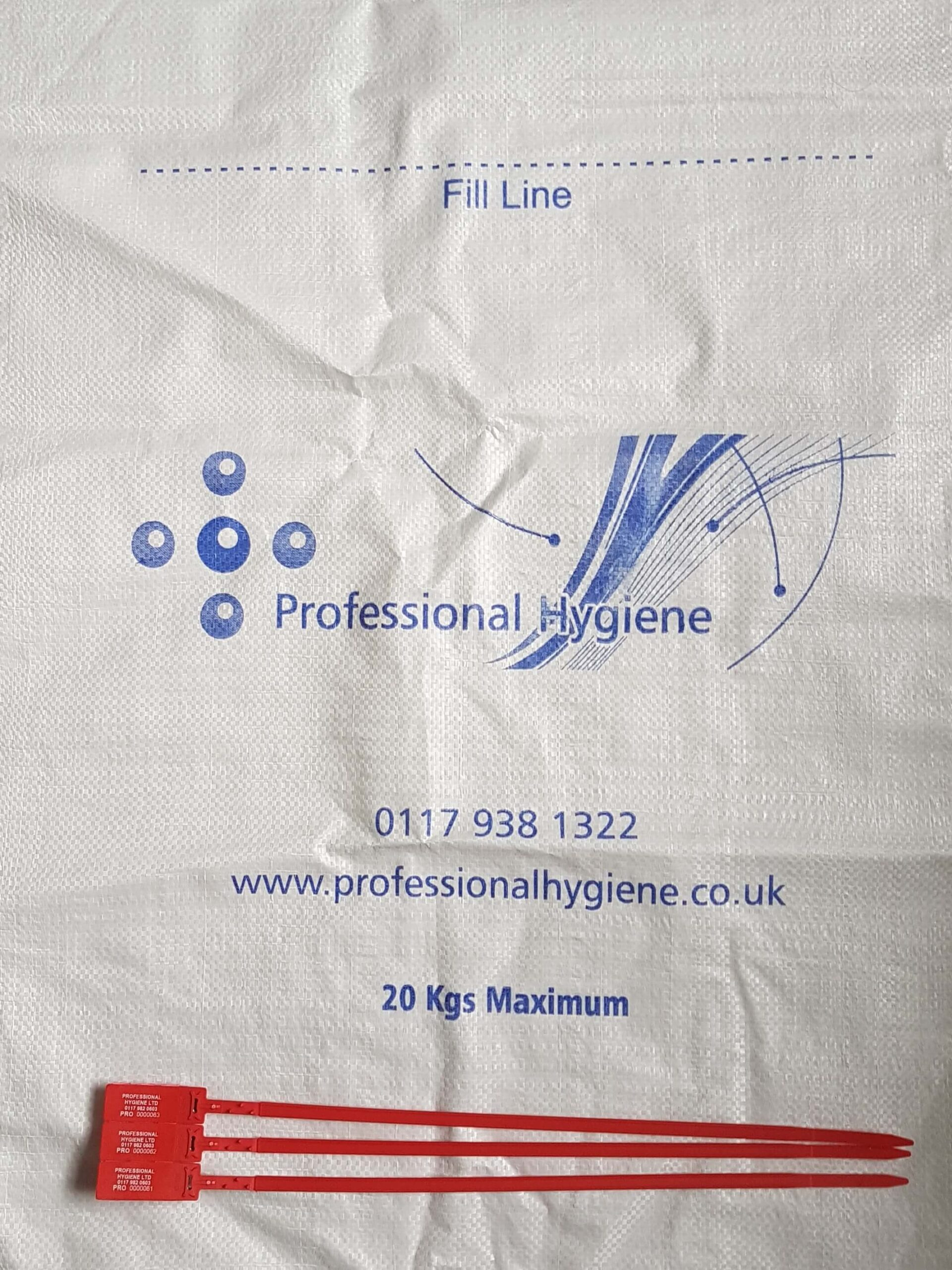 Image of the bag service provided for confidential waste management